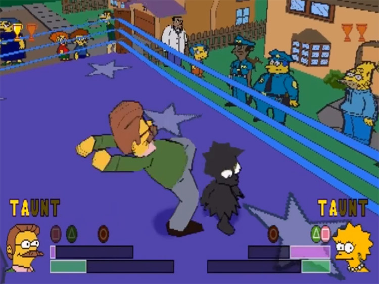 Simpsons Wrestling video game screenshot