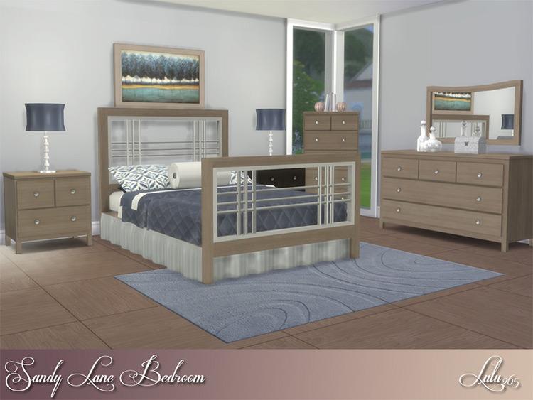 Sandy Lane Bedroom CC for TS4