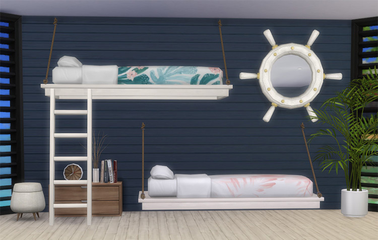 Tropic Like It's Hot Beach House Set - Sims 4 Mod