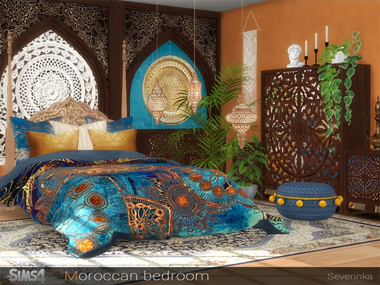 Moroccan Bedroom CC for Sims 4