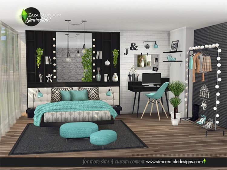 Zara Bedroom CC Set for TS4