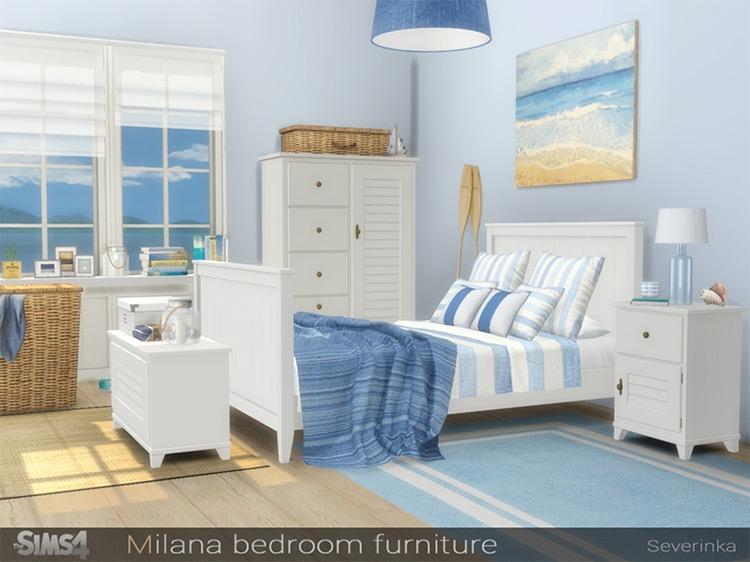 Sims 4 Mod - Milana Bedroom Furniture