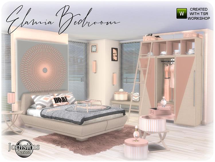 Elamia Bedroom CC Set TS4