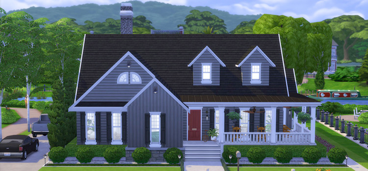 Manor Suburban House Lot - Sims 4 CC