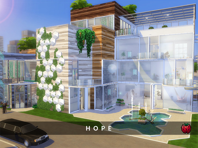 Hope Arts Center Lot CC for The Sims 4