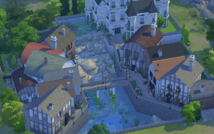 Old French Village CC for TS4