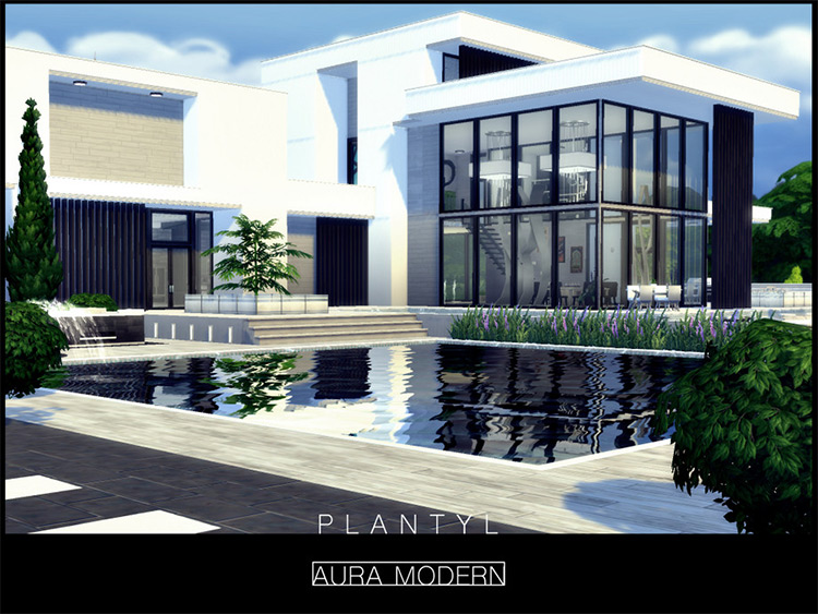 Aura Modern Lot CC for TS4