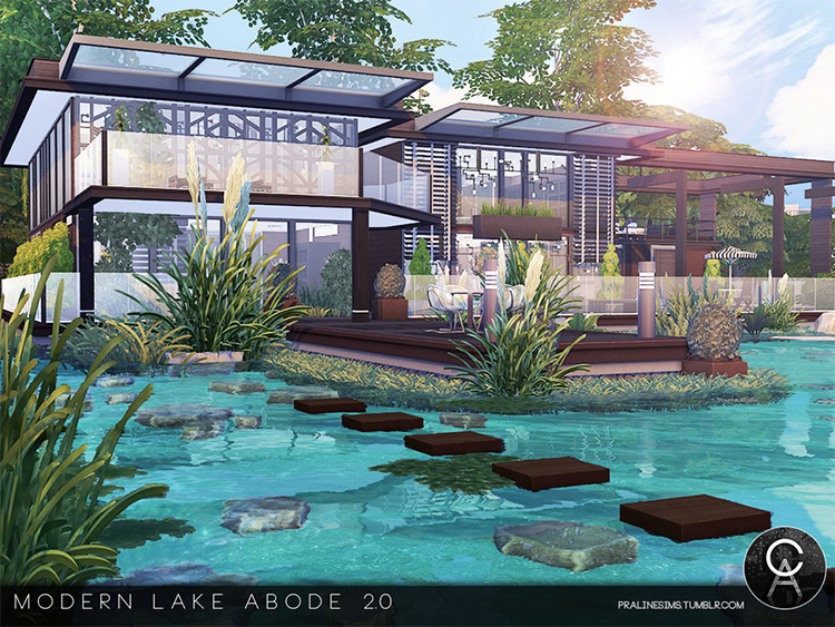 Modern Lake Abode 2 - TS4 CC