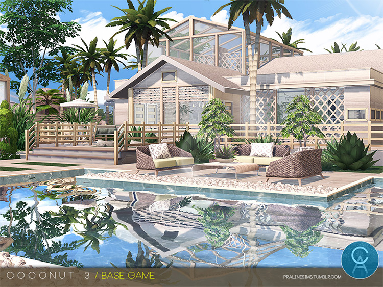 Coconut 3 Home CC for Sims 4