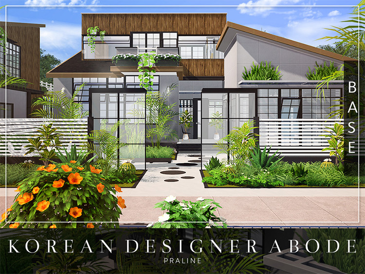 Korean Designer Abode Lot CC