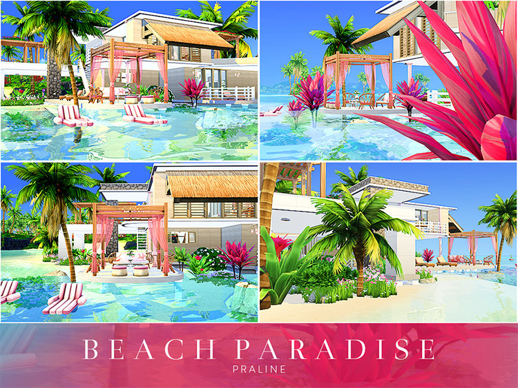 Beach Paradise CC for Sims 4
