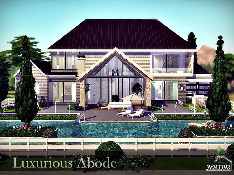 Luxurious Abode CC for Sims 4