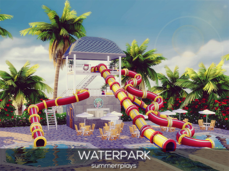Waterpark Lot Mod for The Sims 4