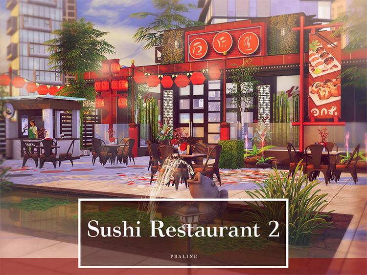 Sushi Restaurant 2 - Sims 4 CC