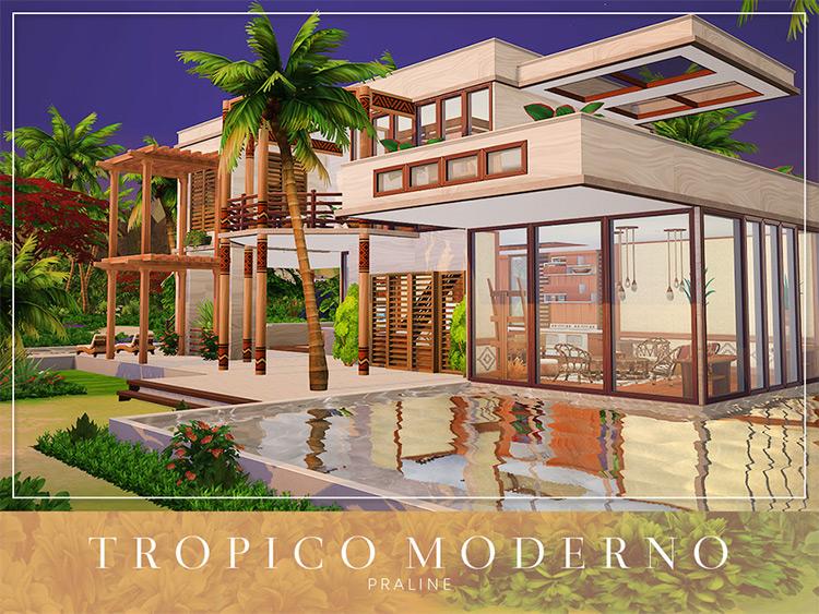 Tropico Moderno Sims 4 CC