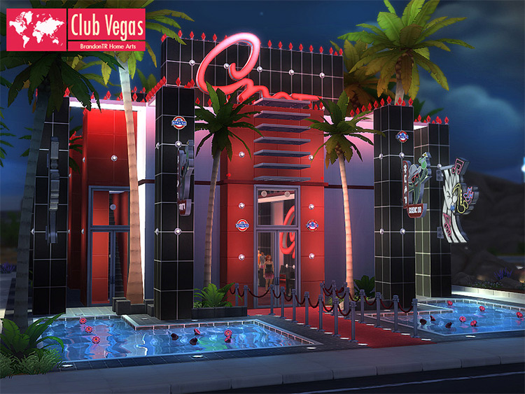 Club Vegas CC for Sims 4
