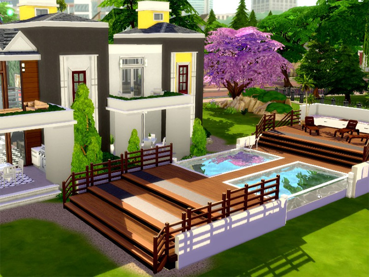 Martha House CC for Sims 4