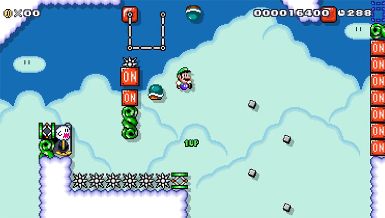 Super Mario Maker 2 Kaizo Level Screenshot