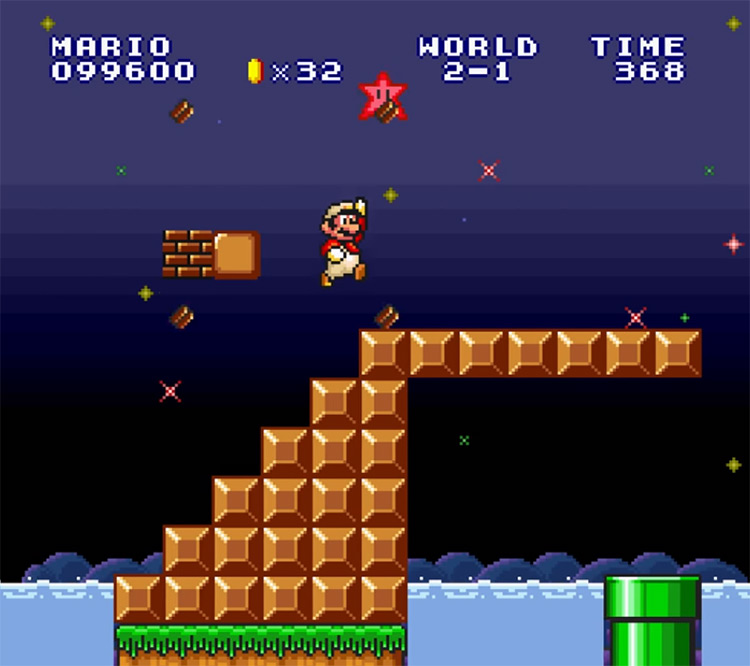 Super Mario Bros. The Lost Levels SNES Screenshot