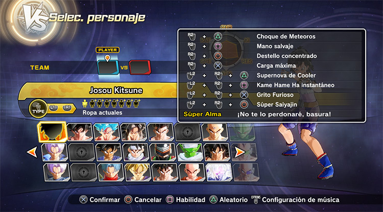 PlayStation Buttons Mod for Xenoverse 2