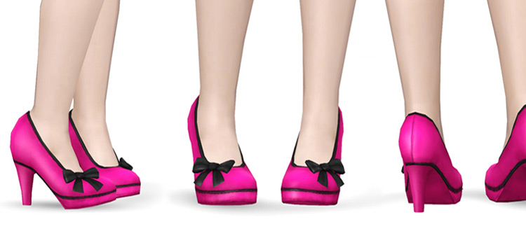 Pink Lola High Heels - Sims 4 CC Preview