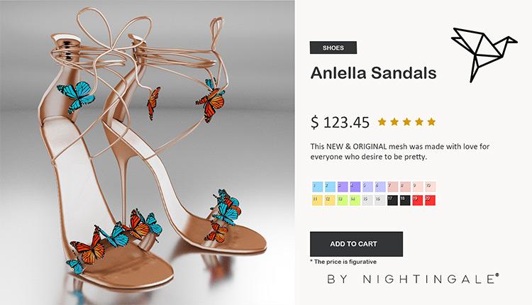 Anlella Sandals w/ Heels CC
