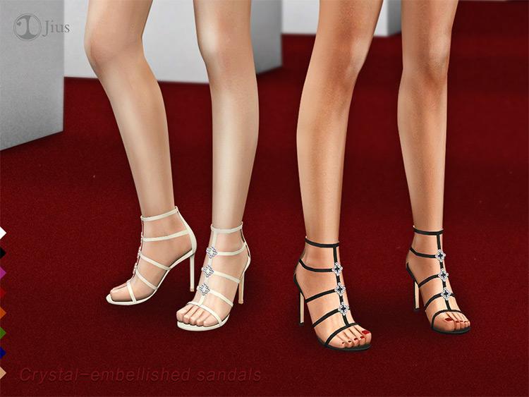 Crystal Embellished High Heel CC