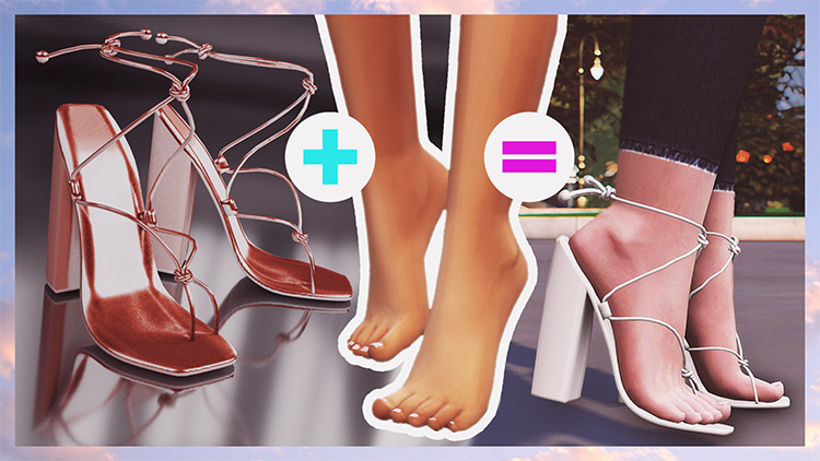 Pia Heels CC for Sims 4