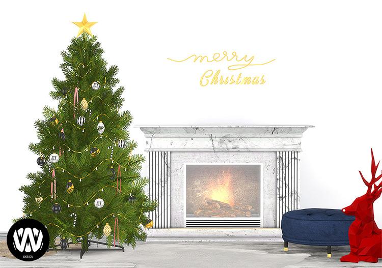 Build Up Christmas Tree Sims 4 CC