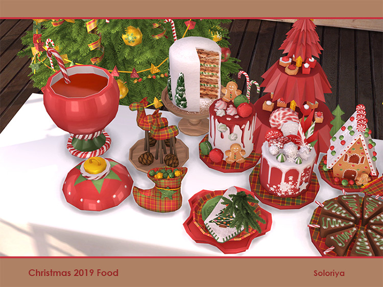 Christmas Sims 4 Food Set CC