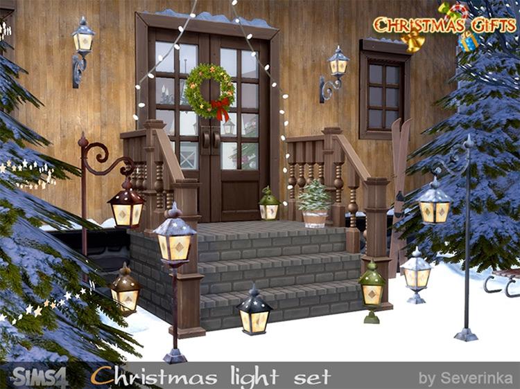 Christmas Light Set Sims4 CC