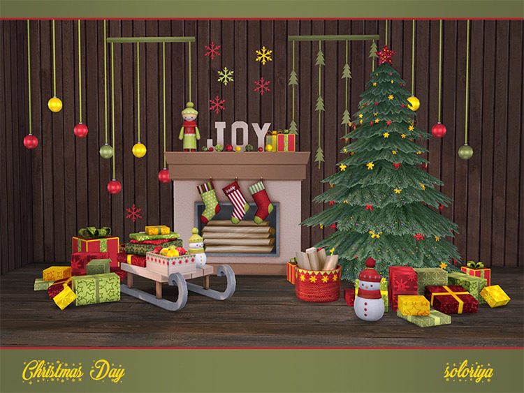 Christmas Day CC Set - Clutter Pack for TS4