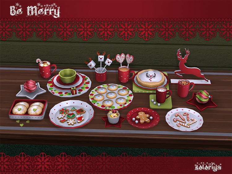 Be Merry Christmas Clutter CC