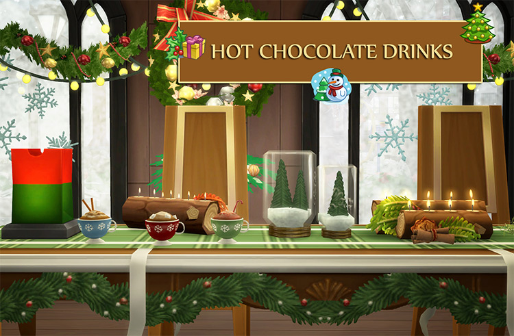 Hot Chocolate Drinks for The Sims 4