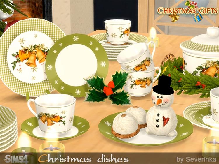 Christmas Dishes TS4 CC