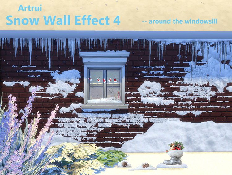 Snow Wall Effect CC for The Sims 4
