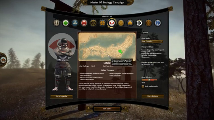 Master of Strategy mod for Total War: Shogun 2