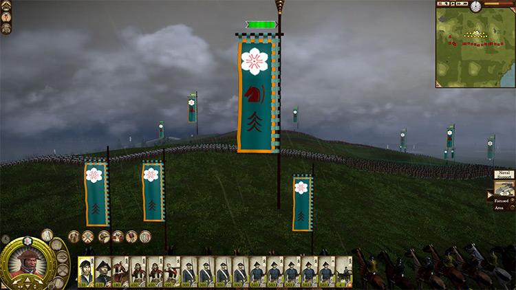 Invisible Battle UI mod for Total War: Shogun 2