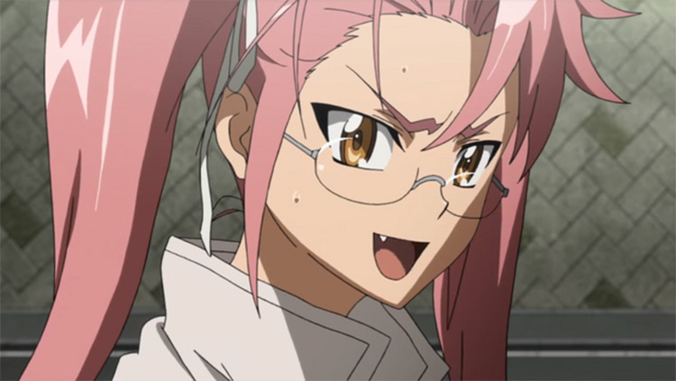 Saya Takagi Highschool of the Dead anime