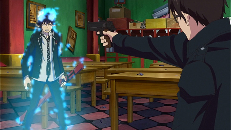 Ao no Exorcist anime screenshot