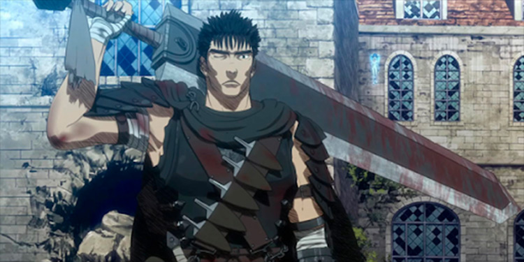 Guts Berserk anime screenshot