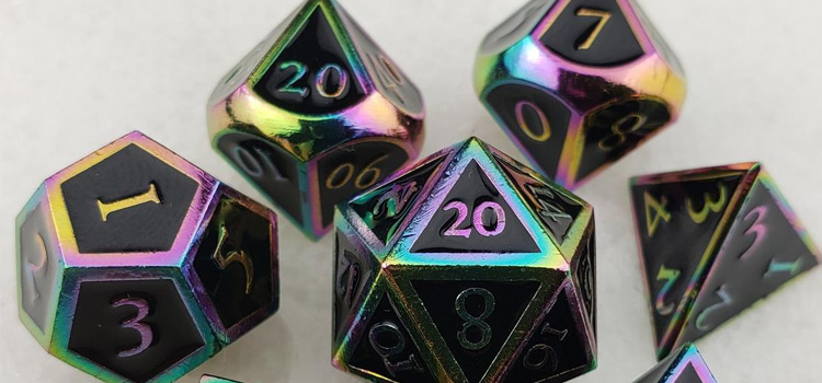 Holographic Custom Dice for D&D 5th Edition