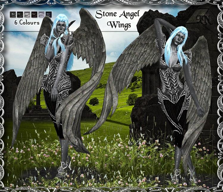 Stone Angel Wings TS4 CC