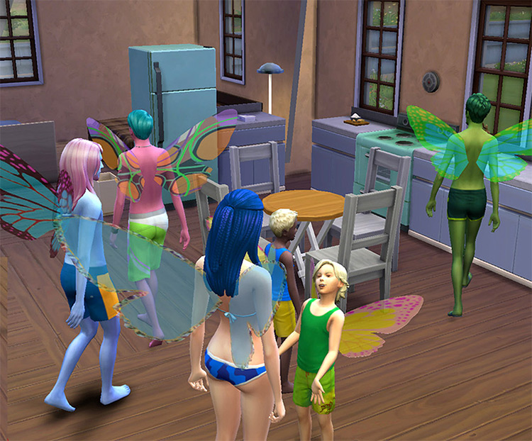 Esmeralda Glass Wings for The Sims 4