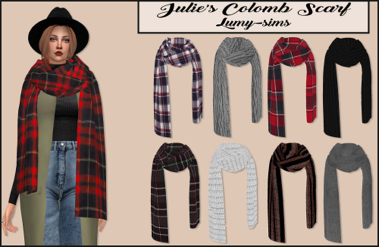 Julie's Colomb Scarf Plaid Colored