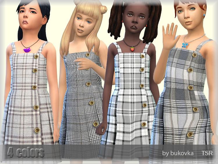 Plaid Sundress CC for girls