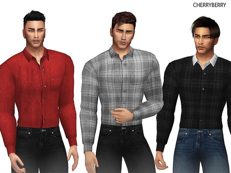 Linen Men's Shirt in Plaid