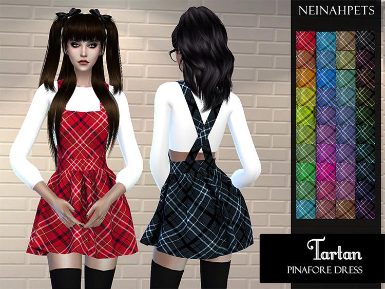 Tartan's Pinafore Dress Plaid CC