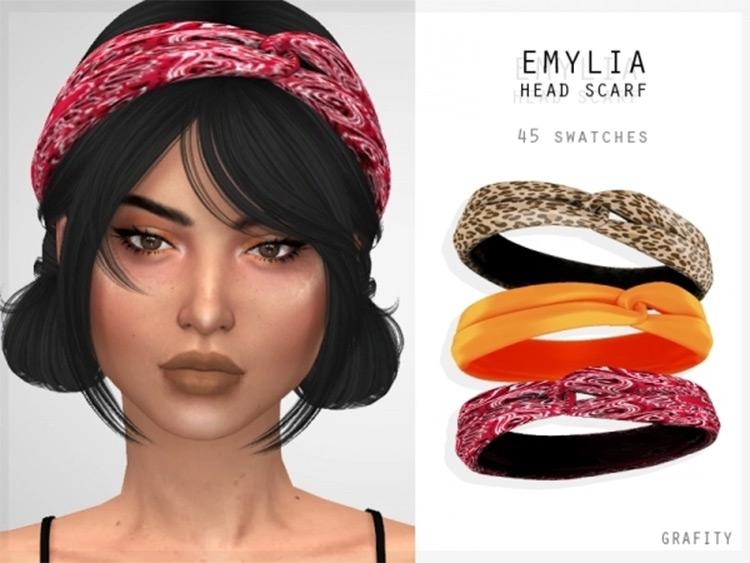 Emylia Head Scarf CC for The Sims 4