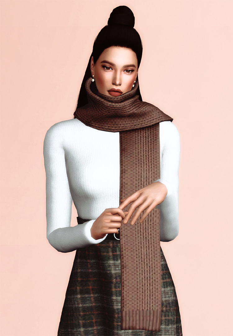Long Scarf CC for TS4
